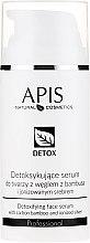 Parfumuri și produse cosmetice Ser detoxifiant pentru pielea grasă și mixtă - APIS Professional Detox Detoxifying Face Serum With Carbon Bamboo And Ionized Silver