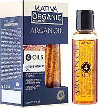 """Parfumuri și produse cosmetice Concentrat de protecție pentru regenerarea părului """"4 uleiuri"""" - Kativa Argan Oil"""