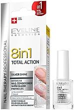 Parfumuri și produse cosmetice Întăritor pentru unghii 8 în 1 - Eveline Cosmetics 8in1 Silver Shine Nail Therapy