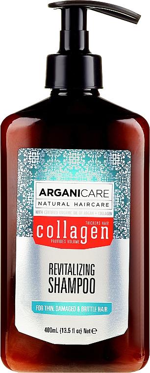 Șampon cu colagen pentru păr poros și slăbit - Arganicare Collagen Revitalizing Shampoo