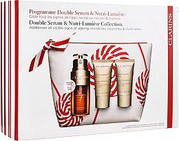 Parfumuri și produse cosmetice Set - Clarins Double Serum & Nutri-Lumiere Set (serum/30ml + cr/15ml + cr/15ml + bag)