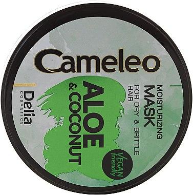 """Mască hidratantă pentru păr """"Aloe și cocos"""" - Delia Cosmetics Cameleo Aloe & Coconut Mask — Imagine N3"""