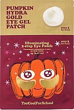 Parfumuri și produse cosmetice Patch-uri hydrogel cu extract de dovleac și aur coloidal, în două etape - Too Cool For School Pumpkin Hydra Gold Eye Gel Patch