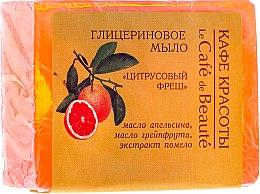 """Parfumuri și produse cosmetice Săpun cu glicerină """"Fresh de citrice"""" - Le Cafe de Beaute Glycerin Soap"""