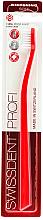 Parfumuri și produse cosmetice Periuță de dinți, moale, roșie - SWISSDENT Profi Whitening Soft