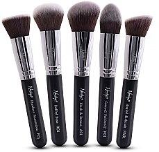 Parfumuri și produse cosmetice Set de pensule machiaj - Nanshy Face Brush Set Black (Brush/5 buc.)