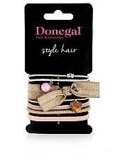 """Parfumuri și produse cosmetice Set elastice de păr """"Darling II"""" FA-5536, 7 bucăți - Donegal"""