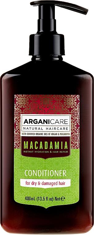 Balsam cu ulei de macadamia pentru păr - Arganicare Macadamia Conditioner