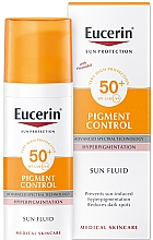 Parfumuri și produse cosmetice Fluid facial anti-hiperpigmentare - Eucerin Sun Protection Pigment Control SPF50+