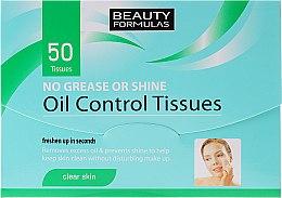 Parfumuri și produse cosmetice Șervetele matifiante pentru față - Beauty Formulas Oil Control Tissues