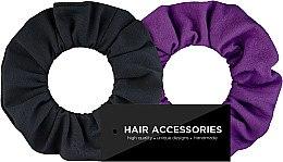 "Parfumuri și produse cosmetice Set elastice ""Black&Violet"" - MakeUp"