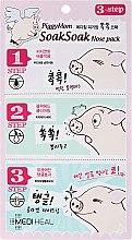 Parfumuri și produse cosmetice Mască în 3 etape pentru față - Mediheal PiggyMom SoakSoak Nose-Pack
