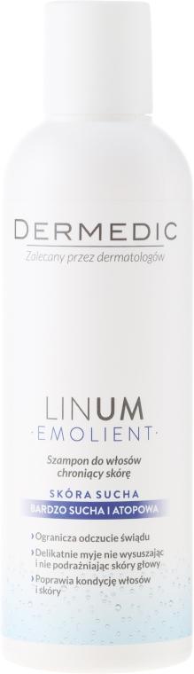 Șampon protector - Dermedic Emolient Linum Shampoo — Imagine N1