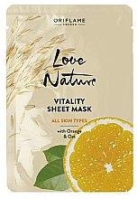Parfumuri și produse cosmetice Masca răcoritoare cu portocală și ovăz - Oriflame Love Nature
