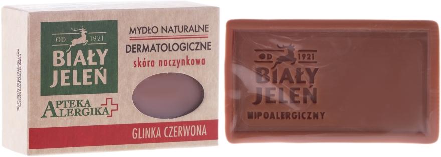Săpun dermatologic cu argilă roșie - Bialy Jelen Apteka Alergika Soap