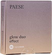 Parfumuri și produse cosmetice Pudră-fard de obraz pentru față - Paese Nanorevit Glow Duo Effect Powder And Blush