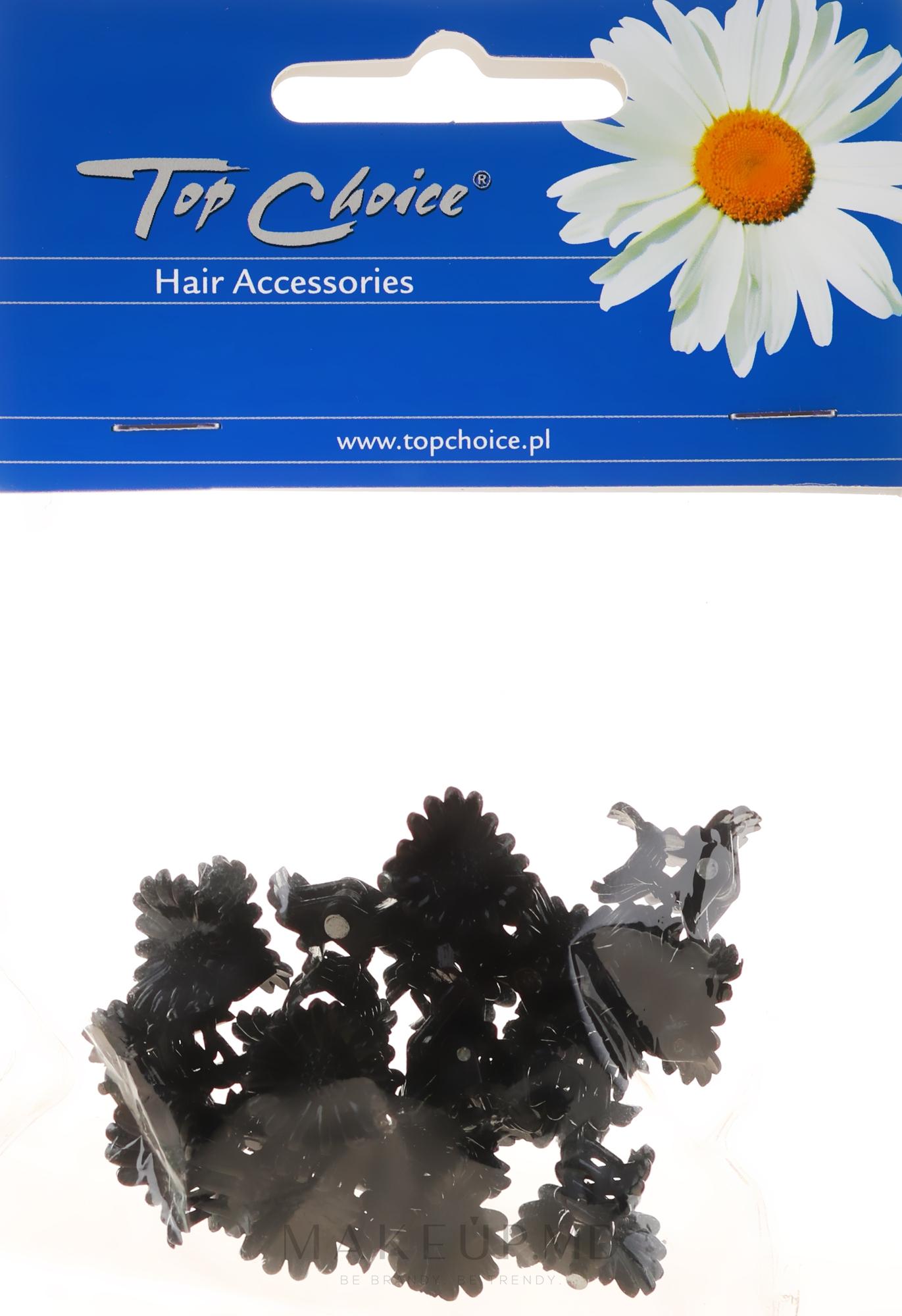 Заколка для волос 25204, черная - Top Choice — фото 18 buc