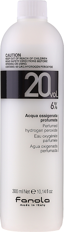 Emulsie oxidantă - Fanola Acqua Ossigenata Perfumed Hydrogen Peroxide Hair Oxidant 20vol 6%