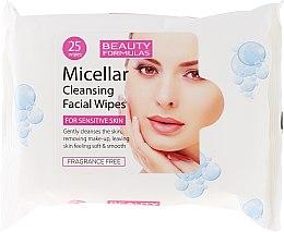 Parfumuri și produse cosmetice Șervețele demachiante micelare - Beauty Formulas Micellar Cleansing Facial Wipes