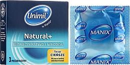 Parfumuri și produse cosmetice Prezervative, 3 buc - Unimil Natural
