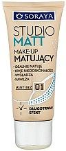 Parfumuri și produse cosmetice Fond de ten - Soraya Podkłady Studio Matt Make-up Matting