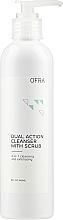 Parfumuri și produse cosmetice Demachiant cu acțiune dublă pentru față, cu scrub - Ofra Dual Action Cleanser with Scrub