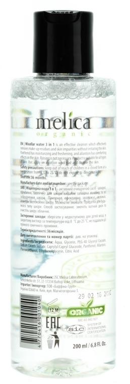 Apă micelară 3în1 - Melica Organic Micellar Water 3 In 1 — Imagine N2