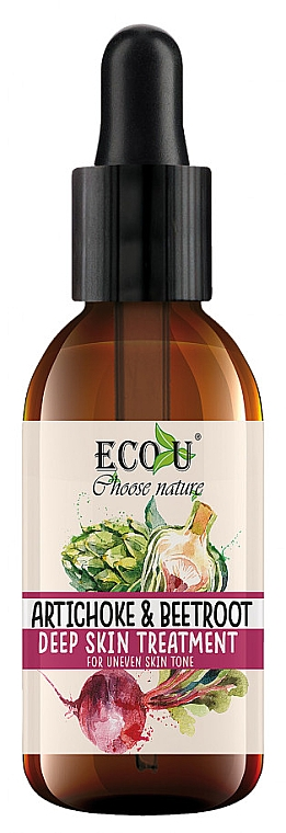 "Ser facial ""Anghinare și sfeclă"" - Eco U Artichoke And Beets Face Serum — Imagine N1"