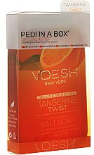 """Parfumuri și produse cosmetice Set pentru pedichiură """"Mandarină"""" - Voesh Deluxe Pedicure Tangerine Twist Pedi In A Box 4 in 1"""