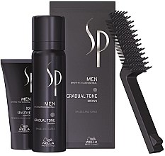 Parfumuri și produse cosmetice Set - Wella SP Men Gradual Tone Brown (hair/mousse/60ml+shmp/30)ml