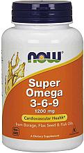 """Parfumuri și produse cosmetice Complex de acizi grași """"Super Omega 3-6-9"""", capsule - Now Foods Super Omega 3-6-9 1200 mg"""