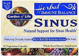 Parfumuri și produse cosmetice Echilibru imunitar pentru sinusuri, capsule - Garden of Life Immune Balance Sinus