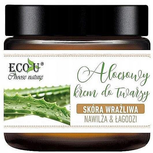 Cremă cu extract de aloe pentru față - Eco U Aloe Face Cream — Imagine N1