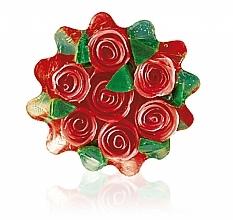 """Parfumuri și produse cosmetice Săpun natural din glicerină """"Trandafir"""", coșuleț, roșu - Bulgarian Rose Glycerin Soap Rose Fantasy"""
