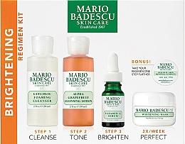 Parfumuri și produse cosmetice Set - Mario Badescu The Brightening Kit (foam/117ml+lot/236ml+ser/29ml+mask/56g+complex/3g)