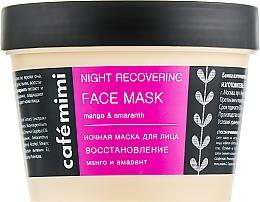Parfumuri și produse cosmetice Mască regenerantă de noapte pentru față - Cafe Mimi Night Recovering Face Mask