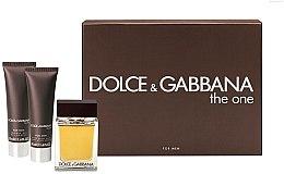 Parfumuri și produse cosmetice Dolce & Gabbana The One for Men - Set (edt 100ml + a/sh balm 50ml + sh/gel 50ml)