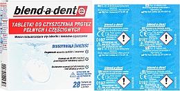 Parfumuri și produse cosmetice Tablete de curățare activă pentru proteze - Blend-A-Dent