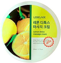 Parfumuri și produse cosmetice Cremă pentru masaj corporal - Lebelage Lemon Detox Massage Cream