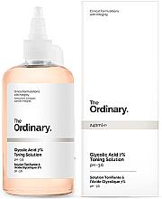 Parfumuri și produse cosmetice Tonic cu acid glicolic 7%, cu efect de reînnoire - The Ordinary Glycolic Acid 7% Toning Solution
