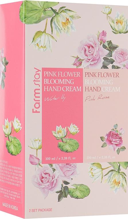 Set - FarmStay Pink Flower Blooming Hand Cream Set (h/cr/2x100ml)