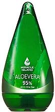 """Parfumuri și produse cosmetice Gel pentru față, corp și păr """"Aloe Vera"""" - Miracle Island Aloevera 95% All In One Gel"""