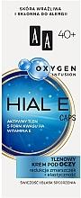 Parfumuri și produse cosmetice Cremă oxidantă pentru pielea din jurul ochilor 40+ - AA Oxygen Infusion Hial E Caps Eye Cream