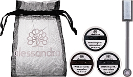 Parfumuri și produse cosmetice Set - Alessandro International Cat Eye Set (gel/5ml + magnet + bag)