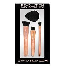Parfumuri și produse cosmetice Set de pensule și burete pentru machiaj - Makeup Revolution Ultra Sculpt & Blend Sponge Brush Collection