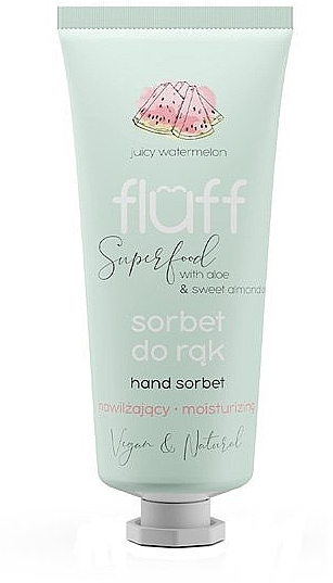 "Увлажняющий крем для рук ""Арбуз"" - Fluff Hand Sorbet — фото N1"