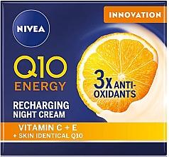 Parfumuri și produse cosmetice Cremă de noapte - Nivea Q10 Energy Recharging Night Cream
