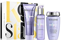 Parfumuri și produse cosmetice Set - Kerastase Blond Absolu Pack Holiday (shm/250ml + cond/250ml + ser/150ml)
