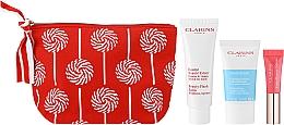 Parfumuri și produse cosmetice Set - Clarins Baume Beaute Eclair Set (balm/50ml + scr/15ml + lip/gloss/5ml + bag)