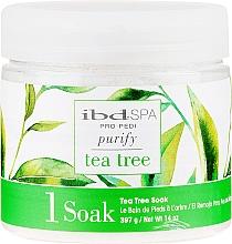 Parfumuri și produse cosmetice Sare de baie pentru picioare - IBD Tea Tree Purify Pedi Spa Soak